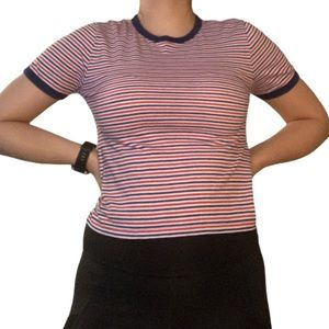 ✨ 3 FOR $15 ✨ H&M navy and red striped t shirt